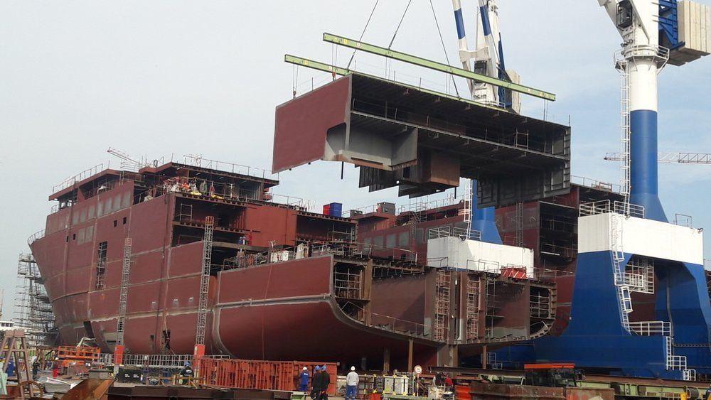 Tersan Shipyard i Tyrkia fikk oppdrag om å levere også de to siste skipene til Havila Kystruten etter verftskonkurs. To skip leveres i 2020 og to i 2021. Bildet er tatt november 2019.