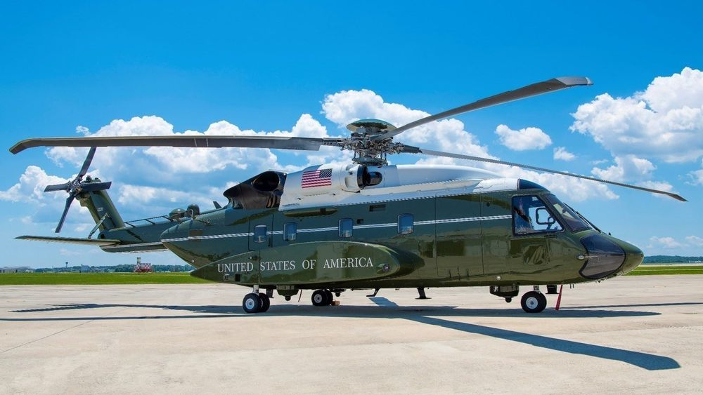 Sikorsky VH-92A-helikopter på Naval Air Station, Patuxent River.