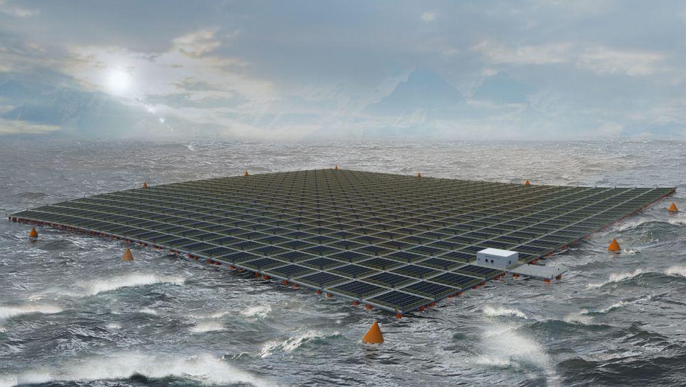 Equnior samarbeider nå med Moss Maritime om å teste ut solcellepanel offshore.