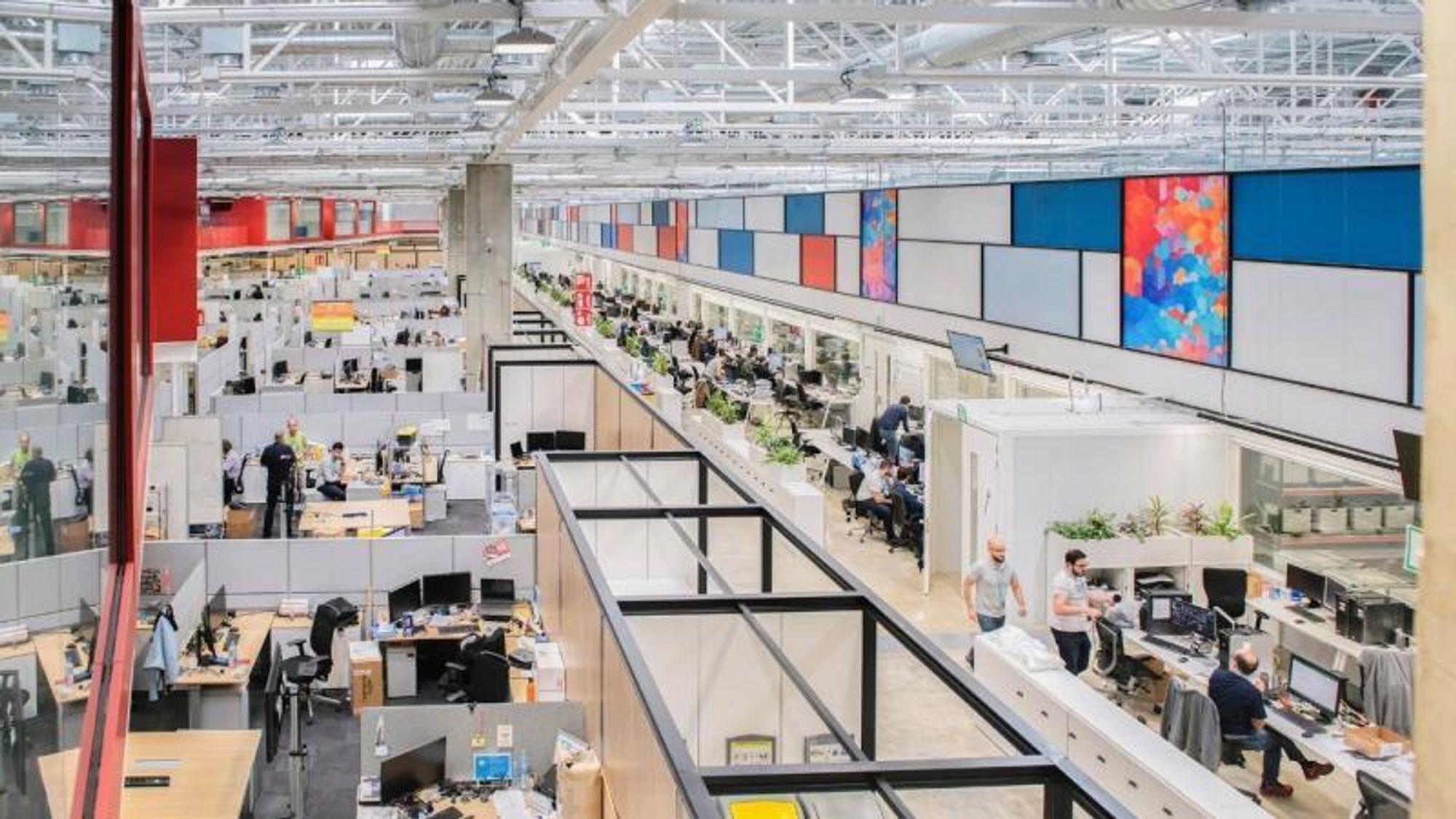 Flere hundre ingeniører jobber daglig med utvikling av 3D-print i HPs nye FoU-senter i Barcelona.