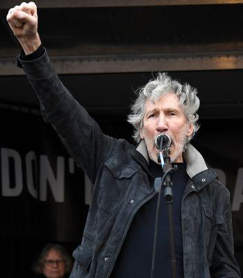 Den britiske musikeren Roger Waters talte under demonstrasjonen i London i helgen mot USAs utleveringskrav for Julian Assange.