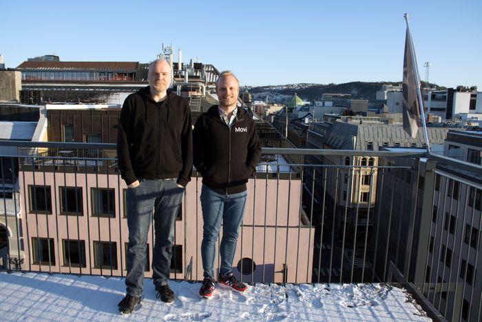 Espen Bjarnø (t.v.) og Lars-Erik Ravn i Movi Tech.