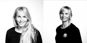 Brita Staal (t.v.) og Vilma Havas. Begge er ansatt i SALT. Vilma forsker gjennom sin PhD på sirkulær plastøkonomi. Brita har vært operativ leder for miljø-, kvalitet og bærekraft i norske og globale bedrifter.