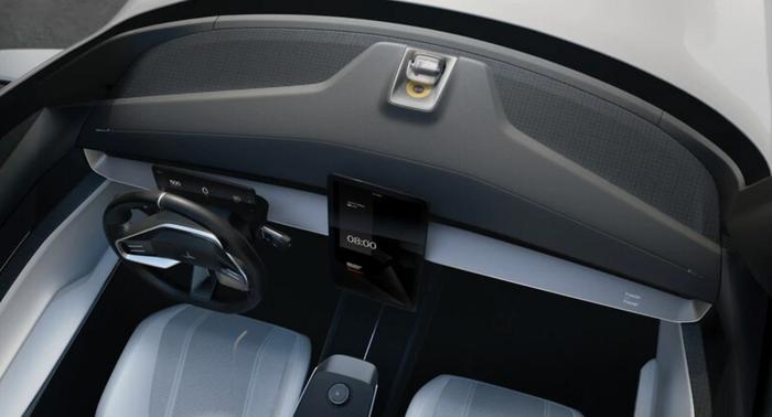 En 15-tommers Android-skjerm er sentralt i bilens interiør.