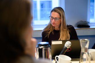 Liv Ekeberg under PFU-møtet 26. februar.