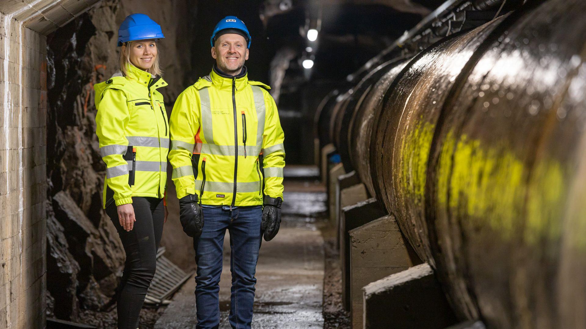 OSET VANNBEHANDLINGSANNLEGG: Geolog Ingjerd Helene Mørck og prosjektleder Ole-Petter Nilsen i Vann- og avløpsetaten i Oslo Kommune.