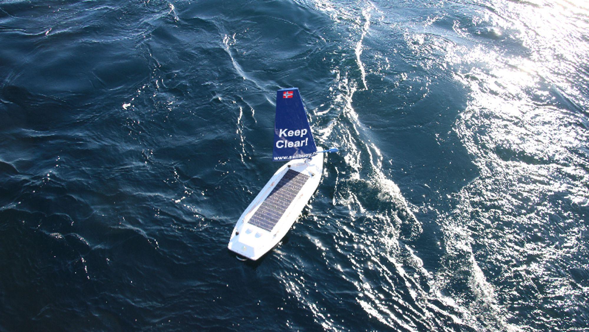 Sailbuoys drone brukes nå av Aker Biomarine til å lete etter krill i Sørishavet.