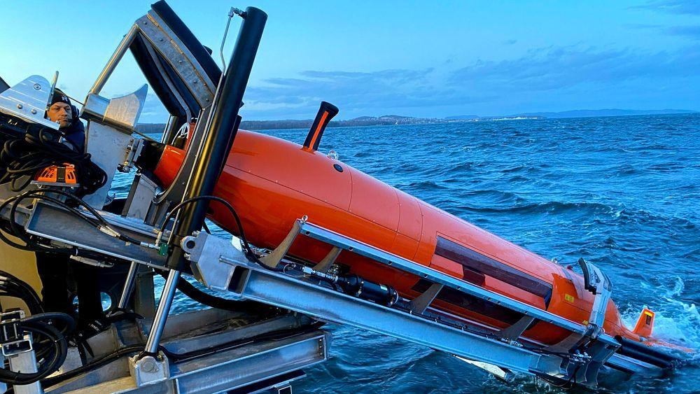 Hugin bisto med å kartlegge skadene på strømkabler i Ytre Oslofjord.