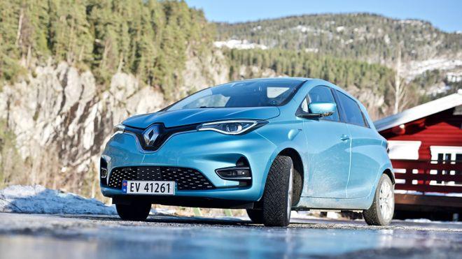 Renault Zoe Z.E 50 har nesten 400 kilometer rekkevidde.