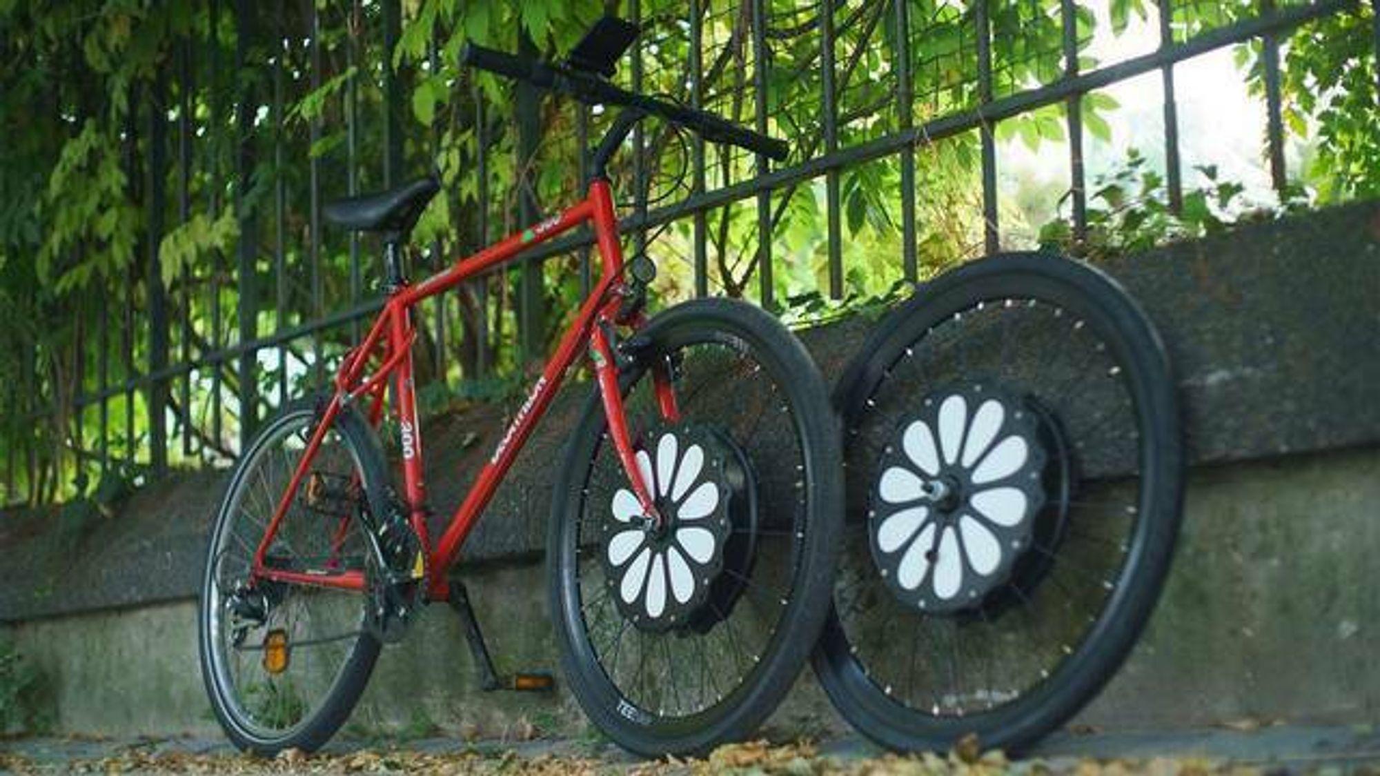 Teebike lar deg gjøre nær sagt en hvilken som helst sykkel om til en elsykkel ved å skifte ut forhjulet.