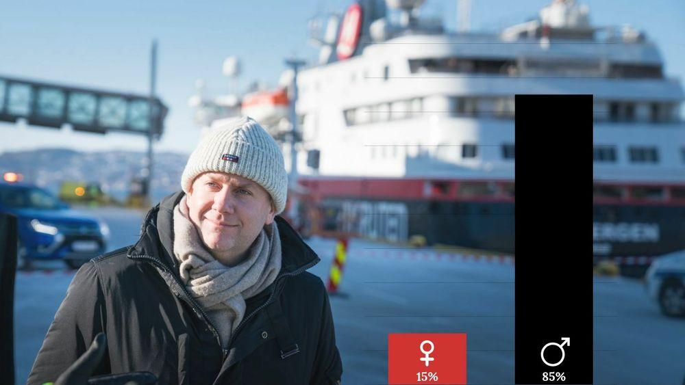 I ledelsen i maritime bedrifter er kvinneandelen på 15 prosent, melder Rederiforbundet. I Hurtigrutas styre sitter det kun menn, blant dem konsernsjef Daniel Skjeldam.