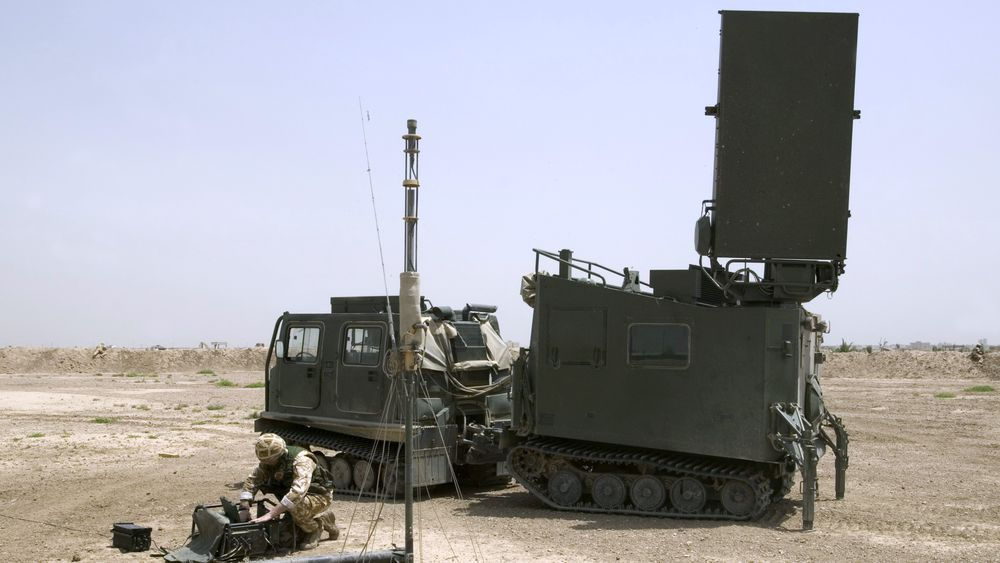 Mobile Artillery Monitoring Battlefield Radar (MAMBA) i Irak.