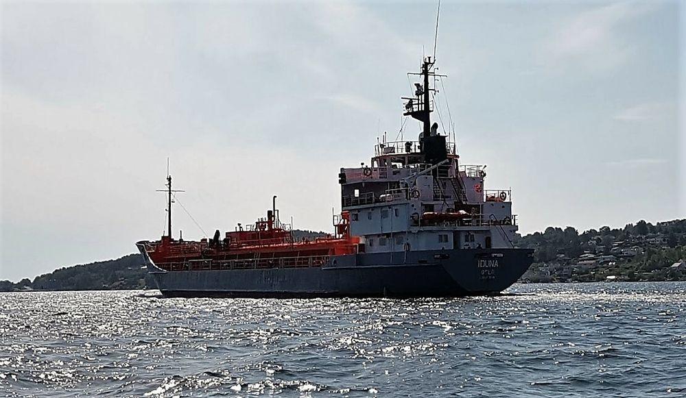 Tankskipet Iduna frakter CO2 for Yara. Skipet er på 2645 dødvekttonn og bygget i 1975.