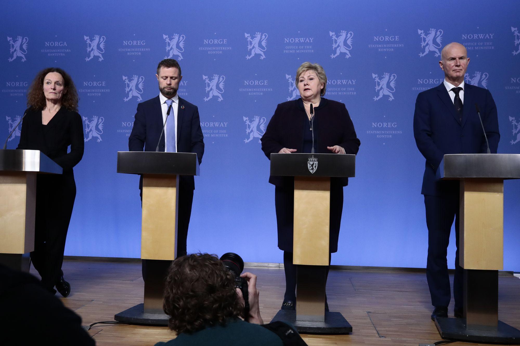 Statsministerens Kontor Tar Selvkritikk Etter Omstridt Mikrofondeling Pa Pressekonferanse Medier24 No