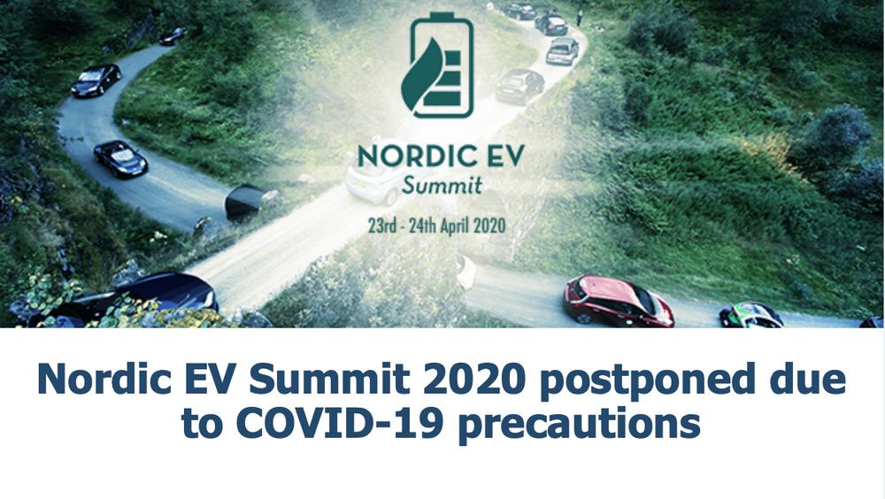 Korona-effekt: Nordic EV Summit flyttes fra april til høsten.