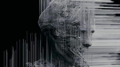 Dokumentarfilmen om kunstig intelligens bruker en rekke visualiseringer som blant annet den på bildet, i tillegg til store oversiktsbilder av menneskemasser og byer.