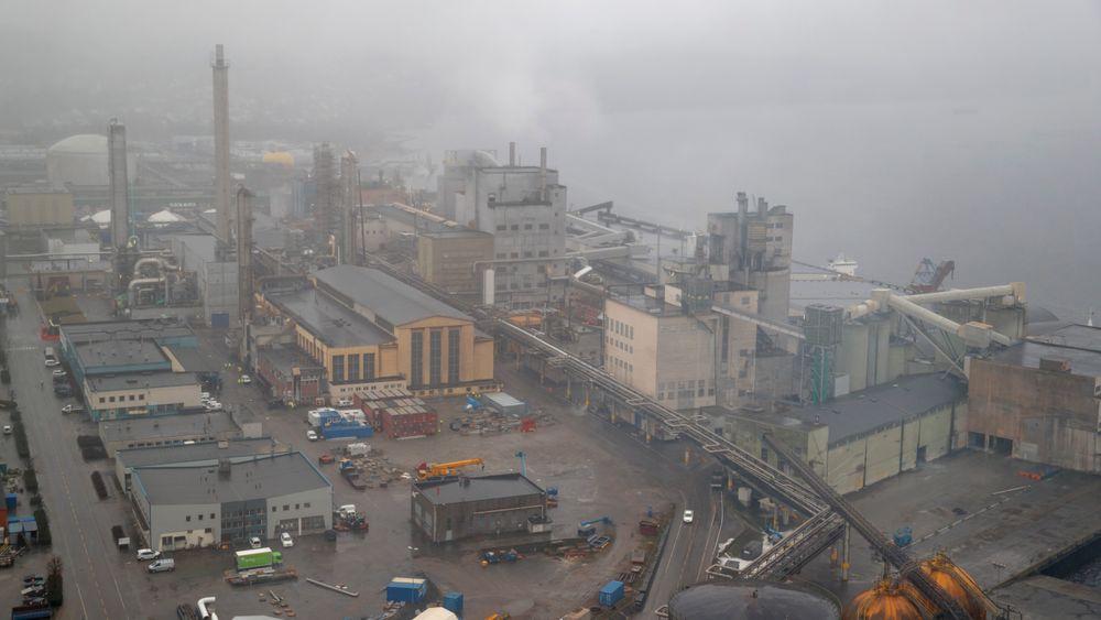 Ammoniakkfabrikken ved Yaras gjødselproduksjonsanlegg på Herøya i Porsgrunn måtte stenges ned etter at det oppstå strømutfall som følge av varmgang i kabler hos Ineos Rafnes på den andre siden av Frierfjorden natt til søndag.