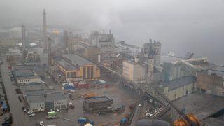 Store industriområder måtte stenges ned etter varmgang