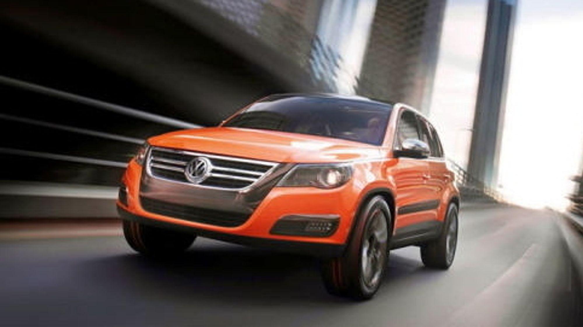 Økende etterspørsel etter SUV, her representert ved Tiguan, gjør at utslippene fra VW-gruppen øker.
