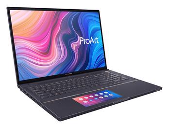 ProArt StudioBook X Pro kommer med en spesiell pekeplate som også fungerer som en ekstra skjerm.