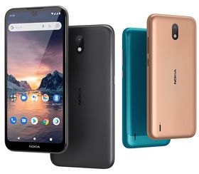 Nokia 1.3 fås i tre ulike farger.