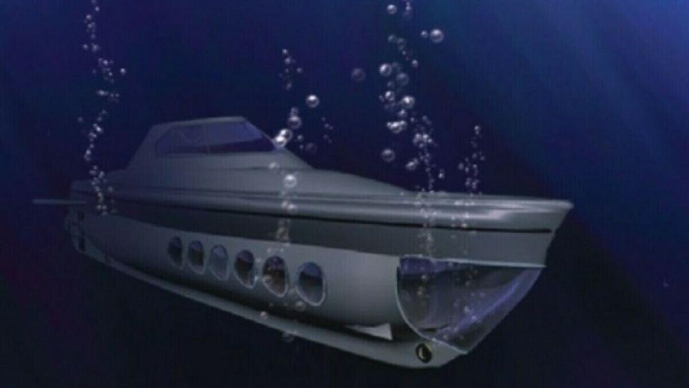 Ideen om å drifte en ubåt med solceller er ikke ny. Denne skissen ble presentert i 2008.