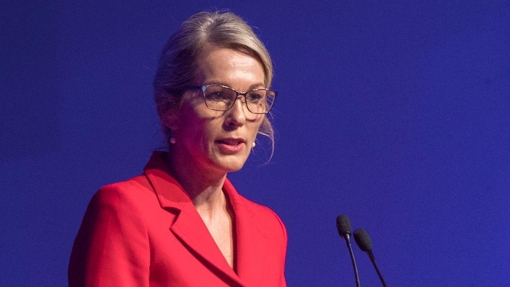 Av Anita Krohn Traaseth, styremedlem i EU-kommisjonens innovasjonsråd (EIC). Her avbildet under 100-årsjubileet til Elektroforeningen i 2018, da hun var leder for Innovasjon Norge.