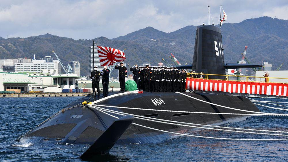 Overleveringen av den japanske ubåten «Ōryū» i Sōryū-klassen på Mitsubishi Heavy Industries-verftet 5. mars.