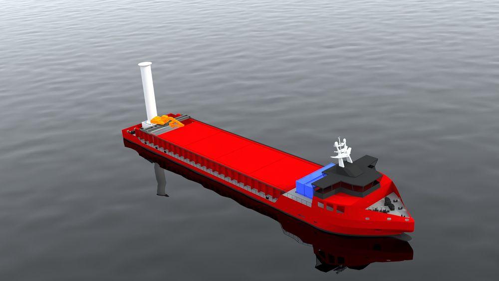 Modulbasert, selv-lossende bulkskip. Lengden kan variere mellom 60-120 meter.