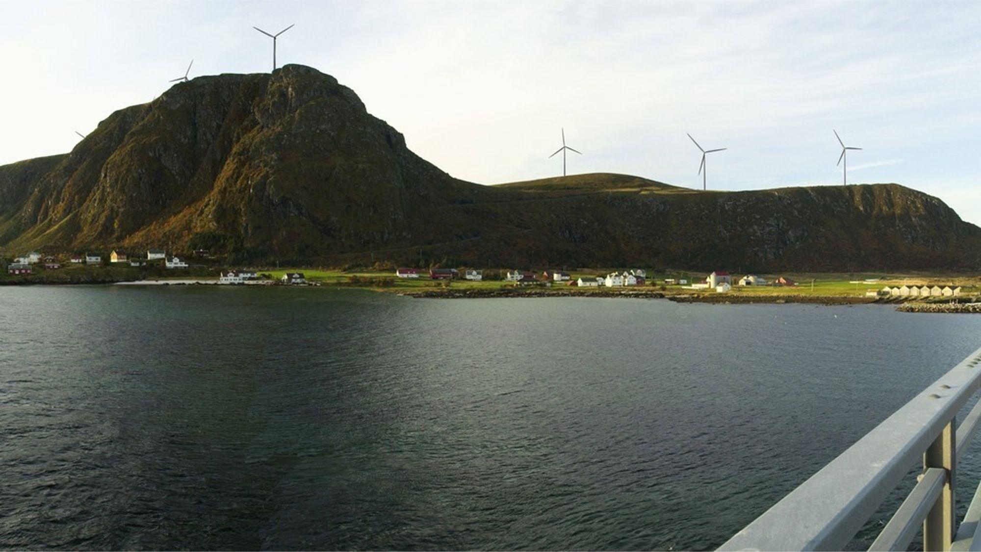 Haram vindkraftverk på Sunnmøre.
