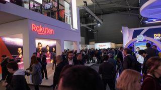 Det var stor oppmerksomhet rundt Rakuten Mobile under Mobile World Congress i 2019.