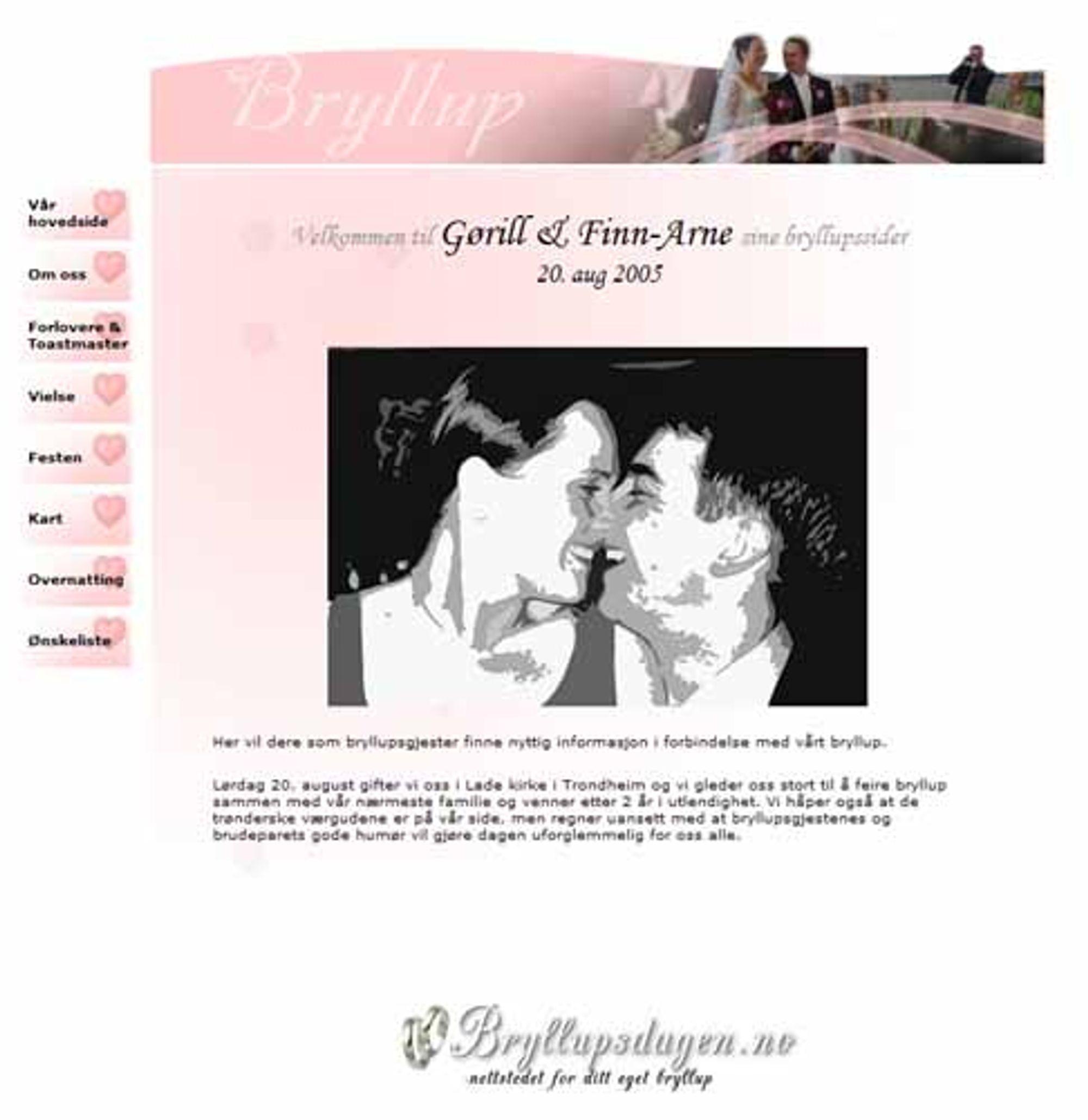 Lag nettside bryllup