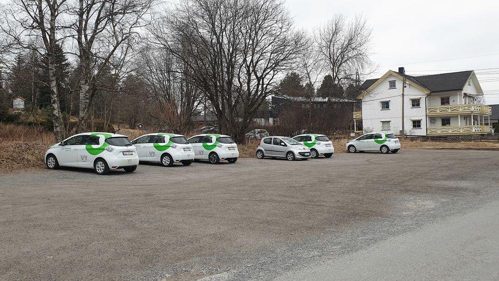 På Korsvoll er det flere som benytter seg av delebilene denne uken.