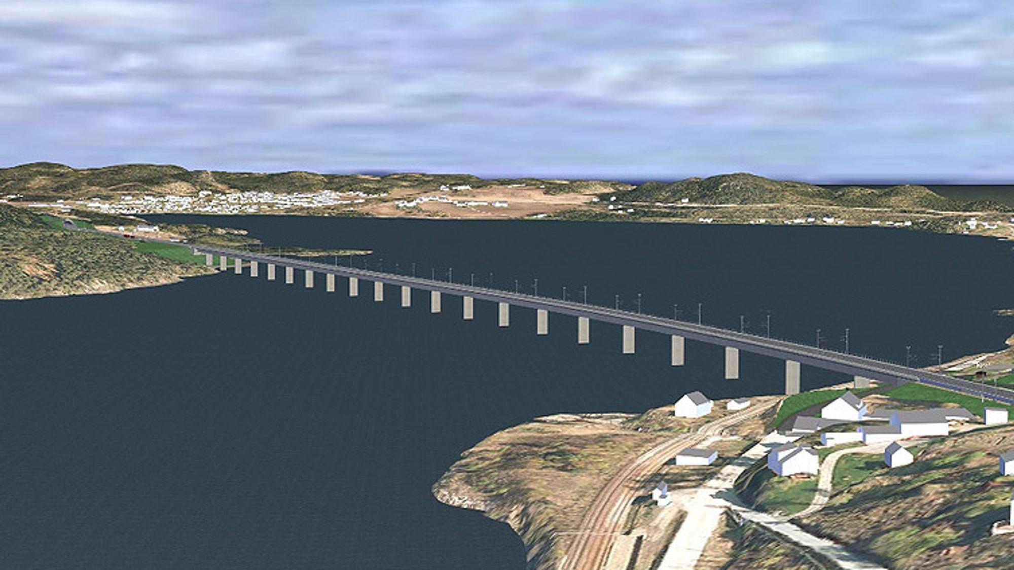 Bane Nor begrunner avlysningen av anbudet på byggingen av ny jernbanebru over Tangenvika med korona.