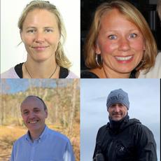 Birgyt Ryningen (Forsker i Sintef, solcellesilisum), Trude Nysæther (Bærekraftsleder, REC Solar), Tyke Naas og Ronny Gløckner er Senior FoU-ingeniører i REC Solar.
