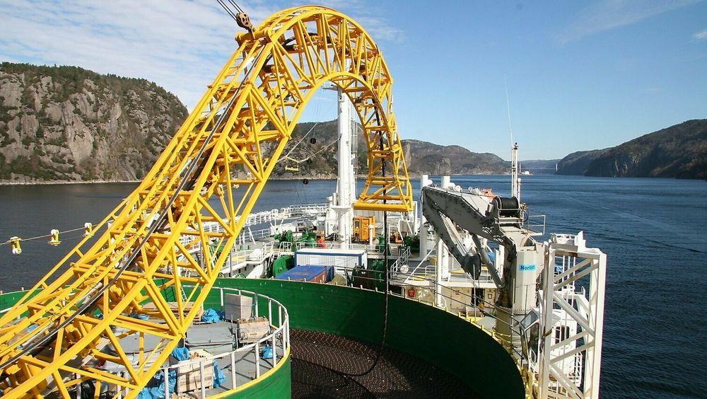 Bildet viser kabelen mellom Norge og Nederland, NorNed. Dette er verdens lengste undersjøiske kraftkabel.