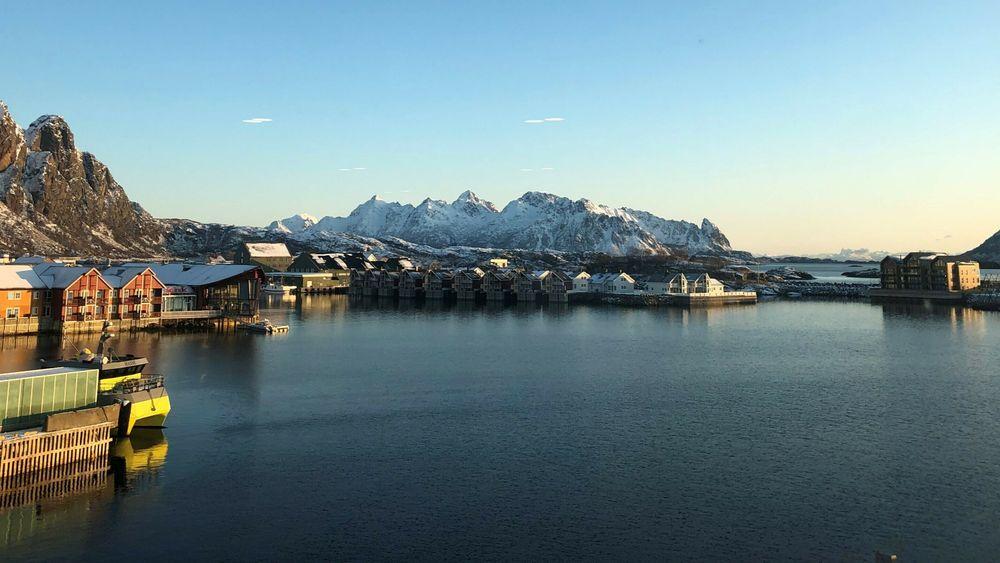 Moderne havner tar i økende grad rollen som knutepunkter for grønn energi. Illustrasjonsbilde fra Svolvær havn.