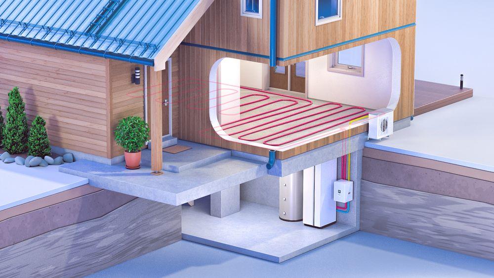 God tilgang på billig strøm er en av grunnene til at vannbåren varme har relativt lav utbredelse i Norge.