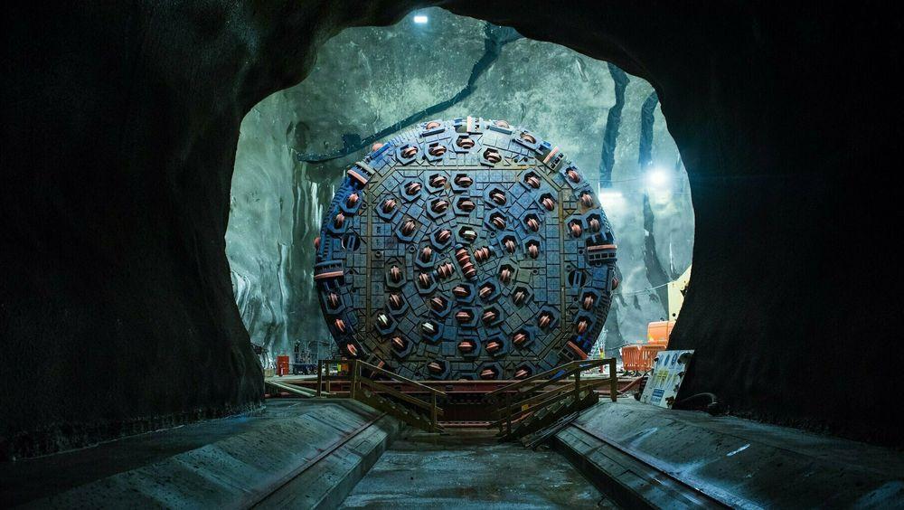 Tunnelboremaskinen Anna er klar til gjennomslag i 2019.