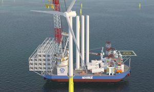 Verdens råeste vindturbininstallasjonsskip kan løfte 2500 tonn 158 meter