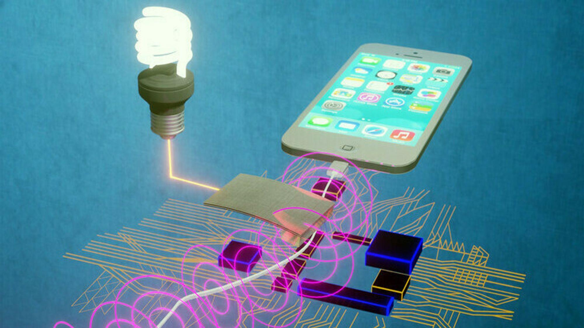 Stripen kan plasseres på eller i nærheten av elektriske apparater, for eksempel lamper eller kabler. Testene har vist lovende resultater.