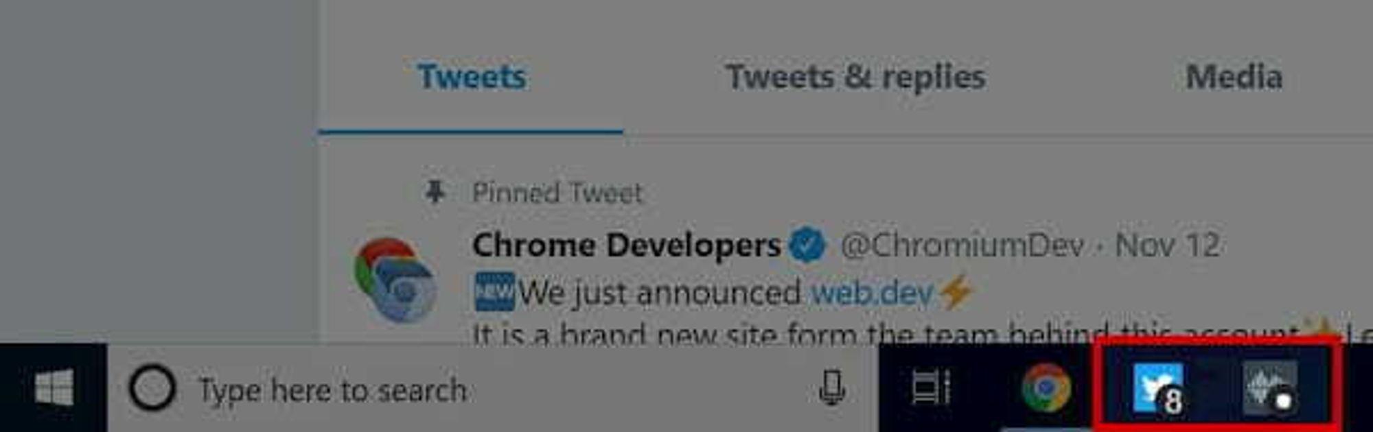 Ikonvarsler i Chrome-baserte webapplikasjoner i Windows.
