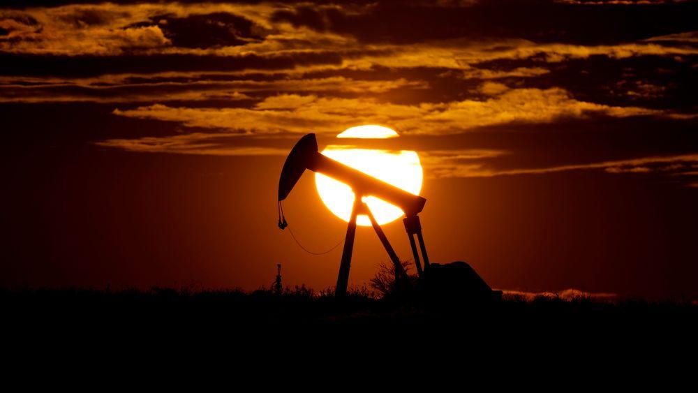 En oljepumpe utenfor Karnes City i den amerikanske delstaten Texas.
