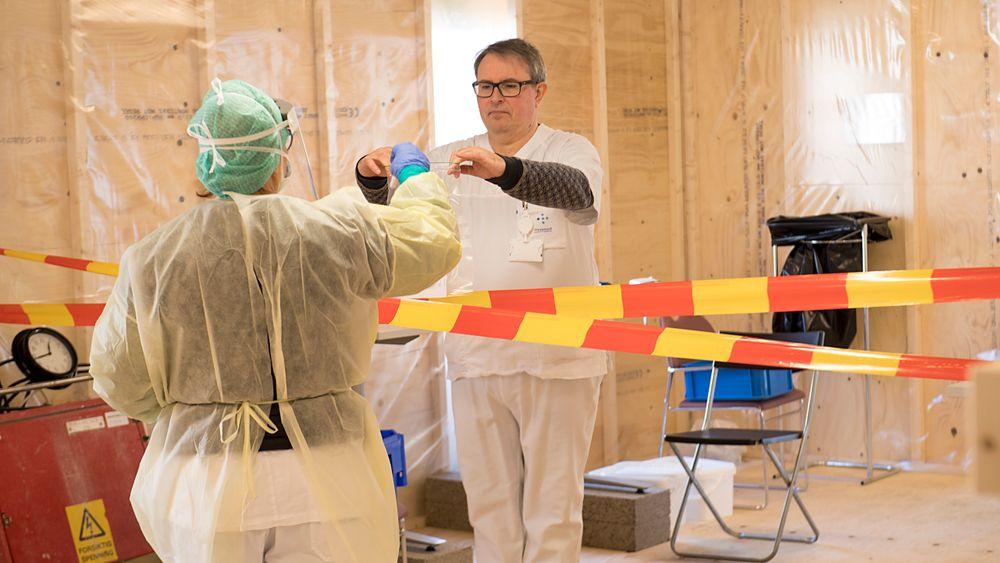Ved Haukeland universitetssjukehus skal flere testes for koronaviruset.