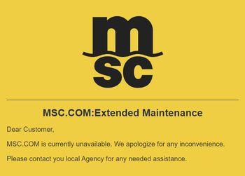 Nettstedet til konteinerselskapet MSC har vært stengt i flere dager.