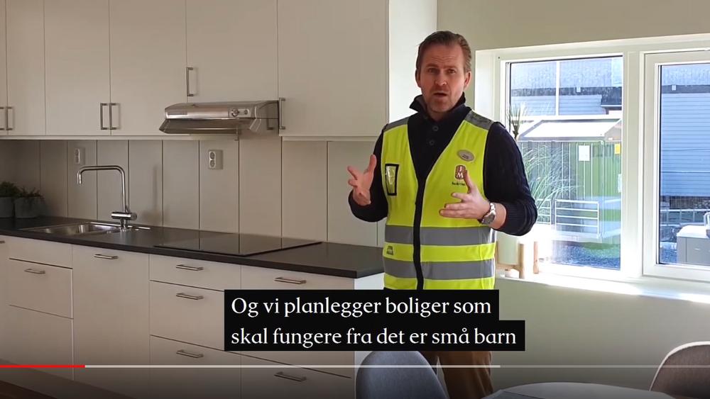 Fra videovisning av rekkehus som skal bygges på Myrvoll i Oppegård.