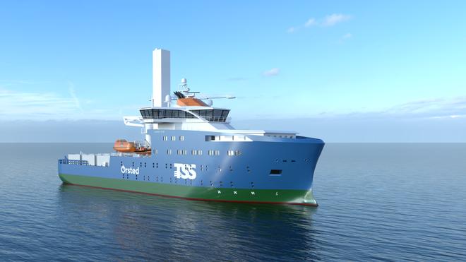 Første hybride havvindskip til Asia
