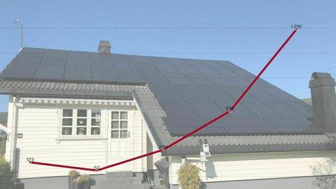 Mens all annen strøm er nesten gratis, fårKnut en krone per kilowattime han produserer på taket