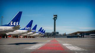 SAS har pakket inn og forseglet 26 fly på Gardermoen: Etter forrige langtidsparkering fant de fuglereir i en motor