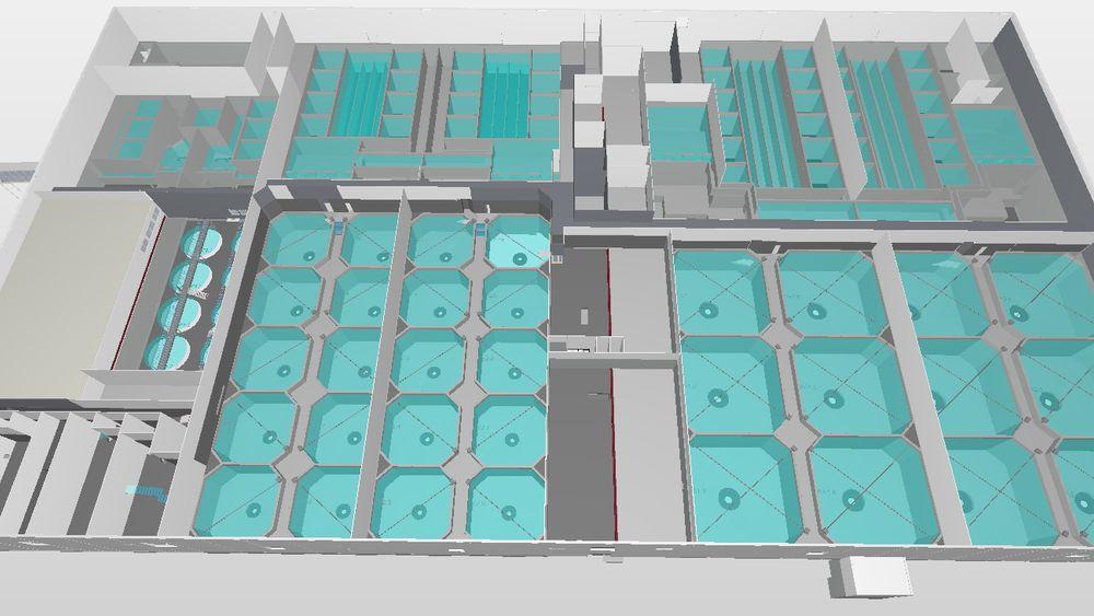 De mange karene til fisken gjør at prosjektet krever 9000 kubikkmeter betong. Bjørn Bygg vurderer nå transport fra leverandør opp mot eget midlertidig blandeverk.
